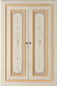 Porte Interne decorate a mano LUNAMARE - ANTICHE PORTE - DI.BI ...