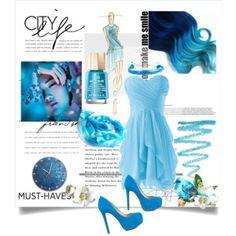Designer Clothes, Shoes & Bags for Women City Life, Formal Dresses, Polyvore, Blue, Design, Women, Fashion, Dresses For Formal, Moda