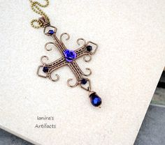 Goth wire wrapped cross 2 by ~IanirasArtifacts on deviantART