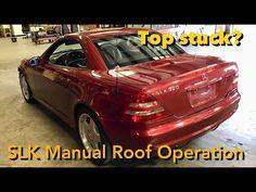 Mercedes SLK Manual Top / Roof Closing (1998-2004 R170) - YouTube