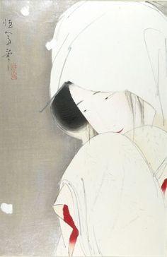 Kitano Tsunetomi, Woman in Snow, Japanese, Taisho period, 1912-26, Harvard Art Museums/Arthur M. Sackler Museum.