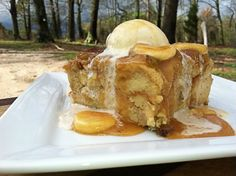 Big Bear's Wife {Recipes that are Angie Tested and BigBear Approved!}: Pineapple Banana Bread Pudding with Banana Caramel Sauce