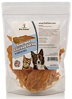 Chicken Jerky Dog Treats Made in USA Only by Pet Eden, 8 oz strips. Free of Preservatives, Limited Ingredient Healthy Snacks for Dogs and Cats. All Natural, Grain Free *** Learn more by visiting the image link.