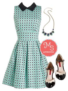 """""""Work in Finesse Dress"""" by modcloth ❤ liked on Polyvore featuring Closet London, But Another Innocent Tale, women's clothing, women, female, woman, misses and juniors"""