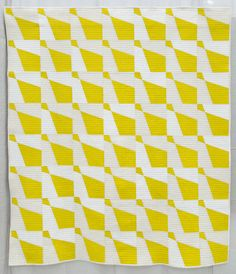 Haberdashery quilt by Amy Friend, 2014 Yellow Quilts, Color Studies, Family Traditions, Negative Space, Mellow Yellow, Haberdashery, Geometric Designs, Contemporary, Modern