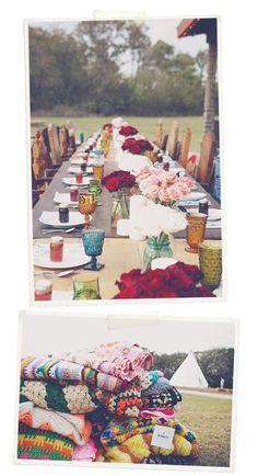 Eclectic wedding table decor