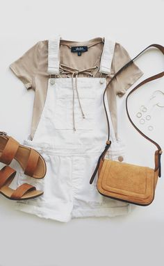 Best of New: Blank NYC White Short Distressed Denim Overalls