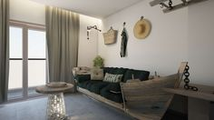 Kavos is a sea themed room located on the second floor of Elakati Luxury Boutique Hotel & includes a bedroom, a living room, a bathroom & a balcony. Rhodes, Pebble Beach, Room Themes, Second Floor, Architecture Design, Greece, Comfy, Flooring, Boutique