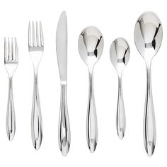 Featuring a heavy-forged design and polished finish, this stainless steel flatware set offers sleek appeal for your dinner party tablescape....