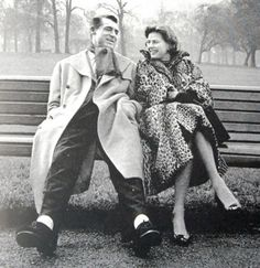 "Cary Grant and Ingrid Bergman in London filming ""Indiscreet"", 1958."