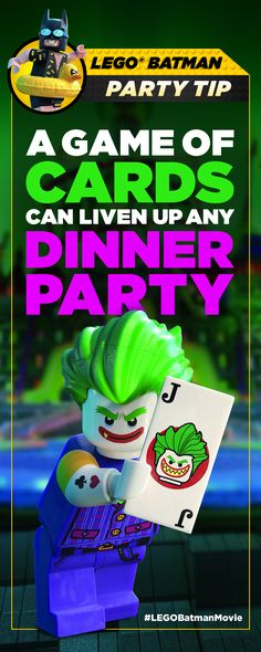 I know The Joker's idea of a card game is waaaay more twisted, but when he's NOT ruining dinners, playing cards is fun. | The LEGO® Batman Movie | In theaters now