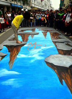 I plan to encounter one of these someday...3D calk drawings