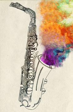 SAX Art   by April Gann