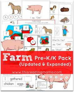FREE Farm Pre-K-K Pack Updated and Expanded - This Reading Mama
