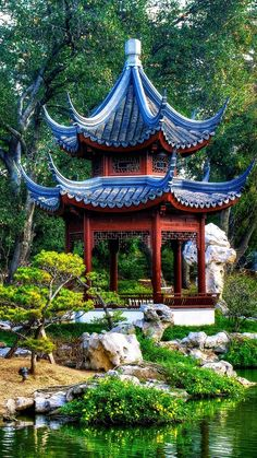 Gazebo of Chinese Garden Beautiful Nature Wallpaper, Beautiful Landscapes, Beautiful Gardens, Japan Architecture, Chinese Architecture, Asian Garden, Chinese Garden, Wonderful Places, Beautiful Places