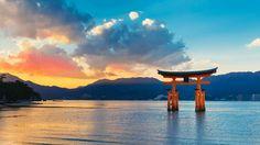 miyajima island itsukushima jinja shrine unesco hiroshima japan