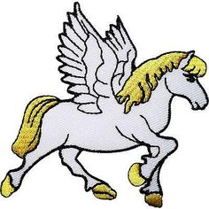 Pegasus Horse Embroidered Iron / Sew On Patch Clothes Bag Jacket Hat Shirt Badge Size 8.5 cm Width and 6.8 cm Height. How to Iron on a Patch Lay your cloth on a