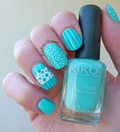Nail art Summer Mint !