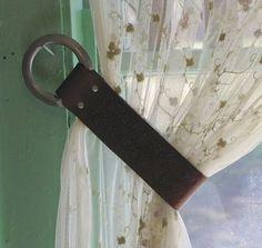 Great Curtain Tie-Backs Unique Decor - 4 Western Saddle Tooled ...