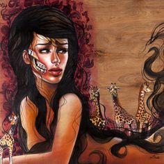 """Hermosa"" acrylic on wood panel $425.00 #art"
