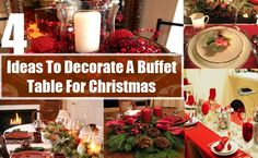 Christmas calls for lots of parties and an essential component of such parties consist of the food. Christmas Buffet, Design Trends, Table Settings, Table Decorations, Parties, Food, Home Decor, Ideas, Fiestas