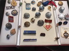Large Vintage Job Lot of Military Badges And Buttons And Other Bits And Bobs