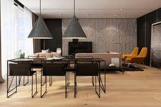 tavolo sedie e lampadari