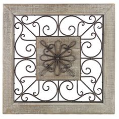 Square Wood And Metal Wall Art