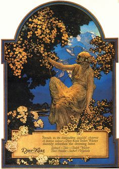 Maxfield Parrish 'Djer-Kiss' 1917 oil painting by Plum leaves, via Flickr