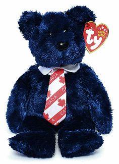 f73452d91e4 Pops (Canada necktie) - Bear - Ty Beanie Babies Rare Beanie Babies