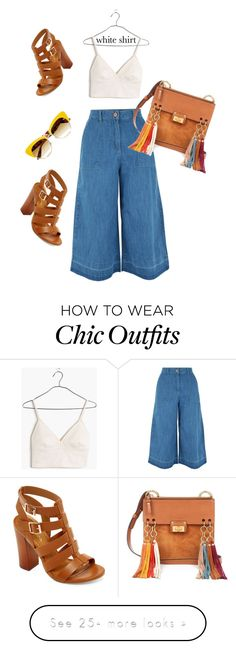 """White shirt hippie chic style #thebest #boho #hippie #spring #summer #comfortable #lovelybag #perfectforyou"" by alerokam on Polyvore featuring New Look, Madewell, Bamboo, Chloé, Dolce&Gabbana and WardrobeStaples"