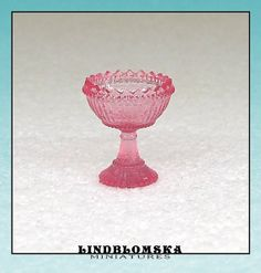Miniature pink goblet in scale the bigger size by Lindblomska, Scale, Miniatures, Trending Outfits, Unique Jewelry, Handmade Gifts, Shop, Pink, Etsy, Vintage