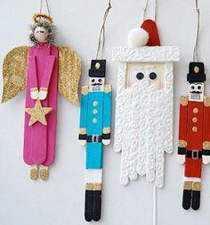 Angyalka, diótörő és Mikulás jégkrém pálcikákból / Mindy -  kreatív ötletek és dekorációk minden napra