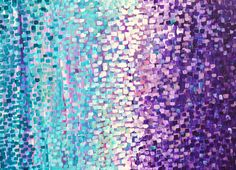 ARTFINDER: Winter Garden by Louise Mead - Winter Garden - Abstract Acrylic Painting on Canvas - Winter Coloured Abstract Acrylic Painting on Canvas in Lilac, Teal, Purple, Turquoise, White, Pink <br...