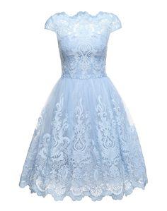 ee7c1142904f Objednej si Chi Chi London Koktejlové šaty  RHIANNON DRESS  - světlemodrá  na ABOUT YOU