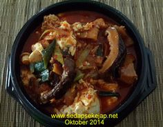 Resep Sundubu-jjigae ( Sup Tahu Pedas )