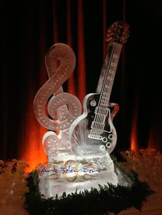 Les Paul guitar ice sculpture at the opening of the museum exhibit in Waukesha! Ice Sculpture Wedding, Ice Luge, Ice Bars, Service Awards, Winter Festival, Team Building Activities, Ice Sculptures, Museum Exhibition, Fire And Ice
