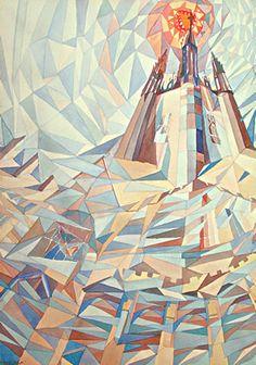 Sun & Carillon, watercolour painting by Wayne Roberts
