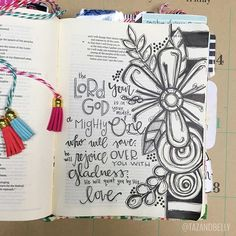 Bible Journaling by Kristin Fields @tazandbelly | Zephaniah 3:17