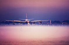 Virgin Atlantic Airbus A340-642 landing at London Heathrow