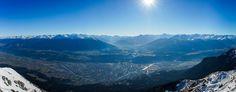 Innsbruck Panorama from Hafelekar Innsbruck, Mount Everest, Wanderlust, Mountains, Nature, Photography, Travel, Photograph, Viajes
