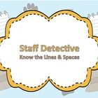 Be a Staff Detective: A PowerPoint for Teaching the Treble Clef