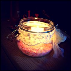 Made my own mason jar candle #DIY