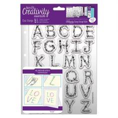 Creativity Essentials A5 Clear Stamp Set (26pcs) - Floral Alphabet - Creativity Essentials from Mountain Ash Crafts UK
