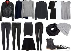 Packing for ??? I like the monochromatic wardrobe! Prevents issues with what goes with what