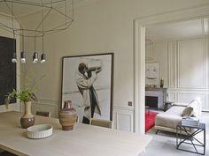 Изящные линии и дизайнерская мебель: апартаменты в Париже | Пуфик - блог о дизайне интерьера