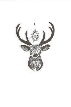 deer head drawing - Cerca con Google