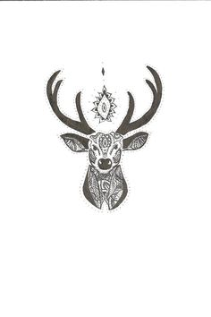 deer head drawing - Cerca con Google