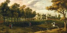 Nonsuch Palace, unknown artist, early 17th century, Fitzwilliam Museum.  Info http://webapps.fitzmuseum.cam.ac.uk/explorer/index.php?oid=1386