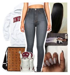 """☺."" by theyknowtyy ❤ liked on Polyvore featuring MCM and NIKE"